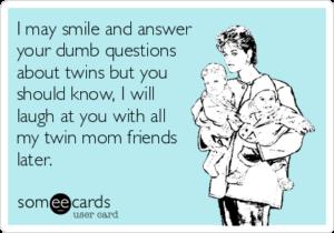 głupie pytania o bliźnięta