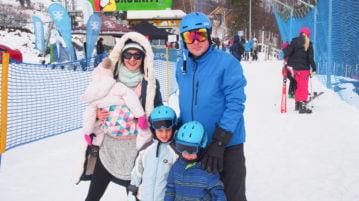 narty z dziecmi